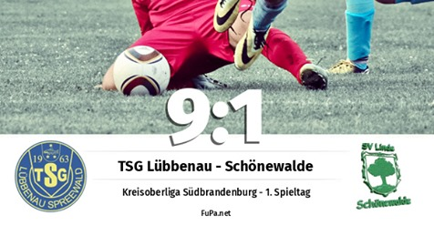 Männer I: TSG Lübbenau - SV